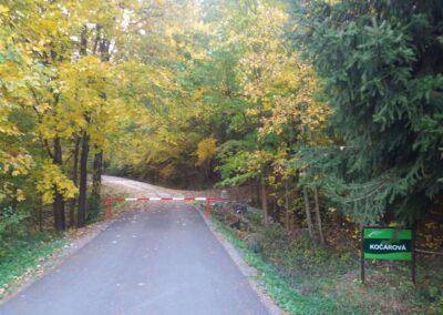Lesní cesta Kočárová - začátek / konec u Habrůvky