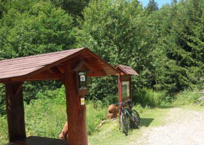 Lesní cesta Melatín - přístřešek u vodní nádrže