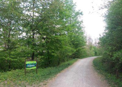 Lesní cesta Šumbera - začátek / konec u Maloměřic