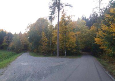 Lesní cesty Úzlý Příhon a Kočárová - začátek / konec u Habrůvky
