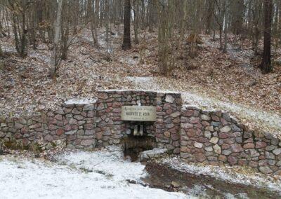 Studánka Pocta vodě v zimě