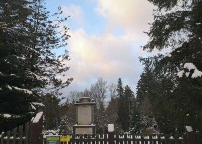 Zimní arboretum Řícmanice - památník Stromy
